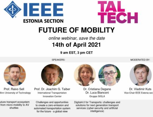 """CitySCAPE @ IEEE Estonia """"Future Mobility"""" Webinar"""